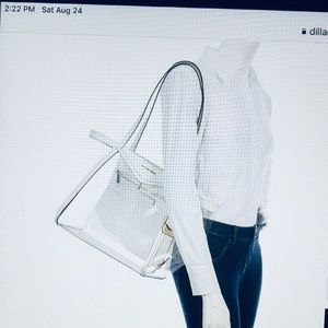 NWT MICHAEL KORS WHITNEY CLEAR TOTE BAG MSRP$278.